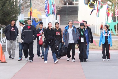 Team OTC with coaches and parents at the Olympic Training Center